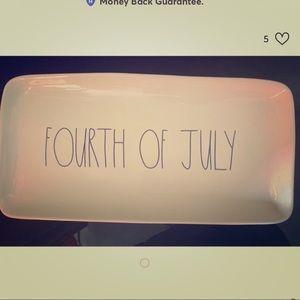 Fourth Of July Rae Dunn Platter